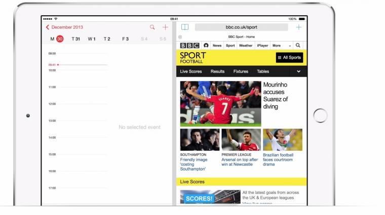 Tényleg lesz osztott képernyős mód az iOS 8-ban kép