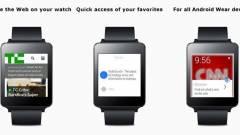 Böngésző készült Android Wear okosórára kép