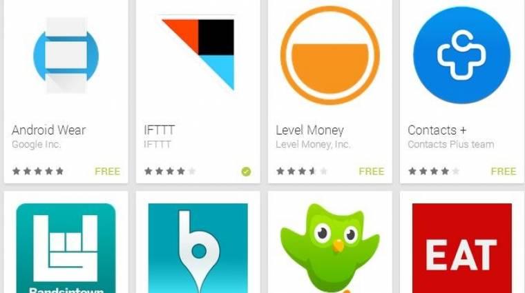 Letölthetők az első Android Wear alkalmazások kép