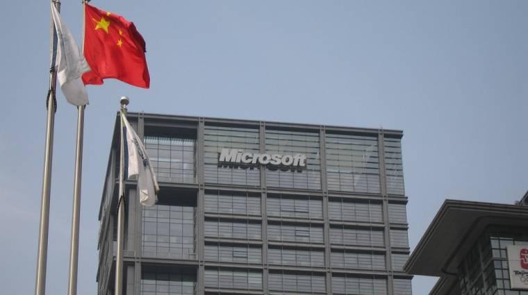Kína célkeresztjébe került a Microsoft kép