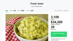 Hihetetlen sikere van a közösségi krumplisalátának kép