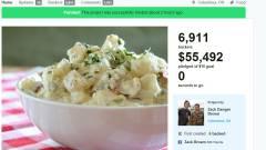 13 millió forint gyűlt össze a krumplisalátára kép