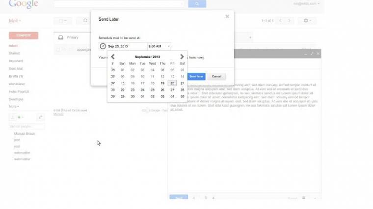 Hogyan időzítsünk leveleket a Gmailben? kép
