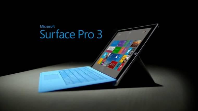 Új Microsoft Surface Pro 3 modellek érkeztek kép