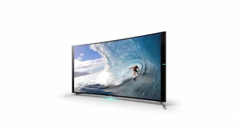 Itt a Sony első hajlított tévéje kép