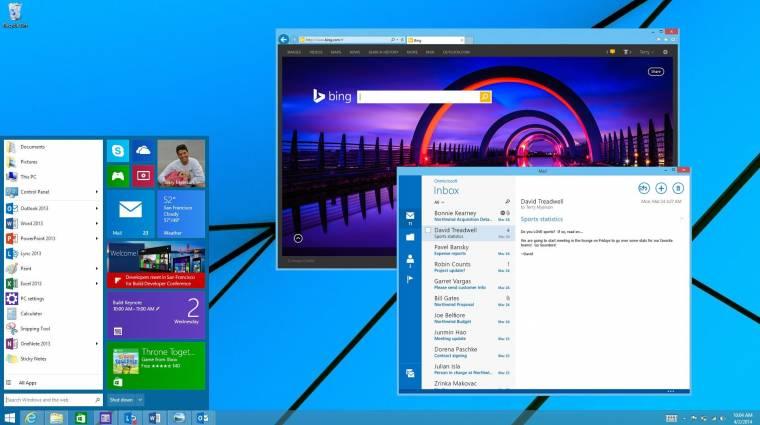 A Windows XP nyomdokait követi a Windows 9 kép