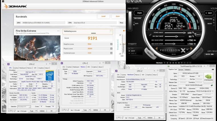 Az eddigi leggyorsabb videokártya lett az EVGA GeForce GTX 980 kép