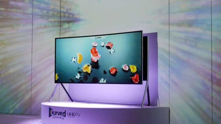 105 hüvelykes hajlított tévét mutatott a Samsung kép