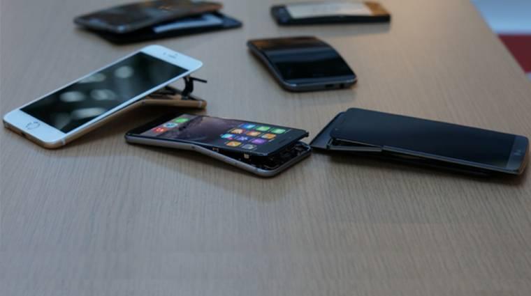 A többi okostelefon is pont úgy hajlik, mint az iPhone 6  kép