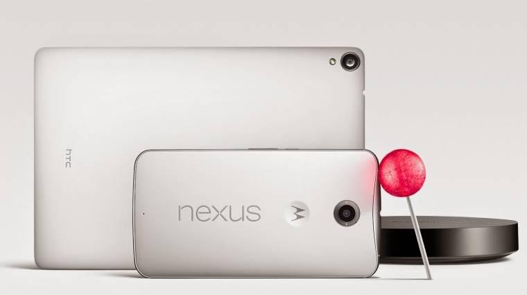 Itt a Google Nexus 9, a Nexus 6 és az Android Lollipop kép