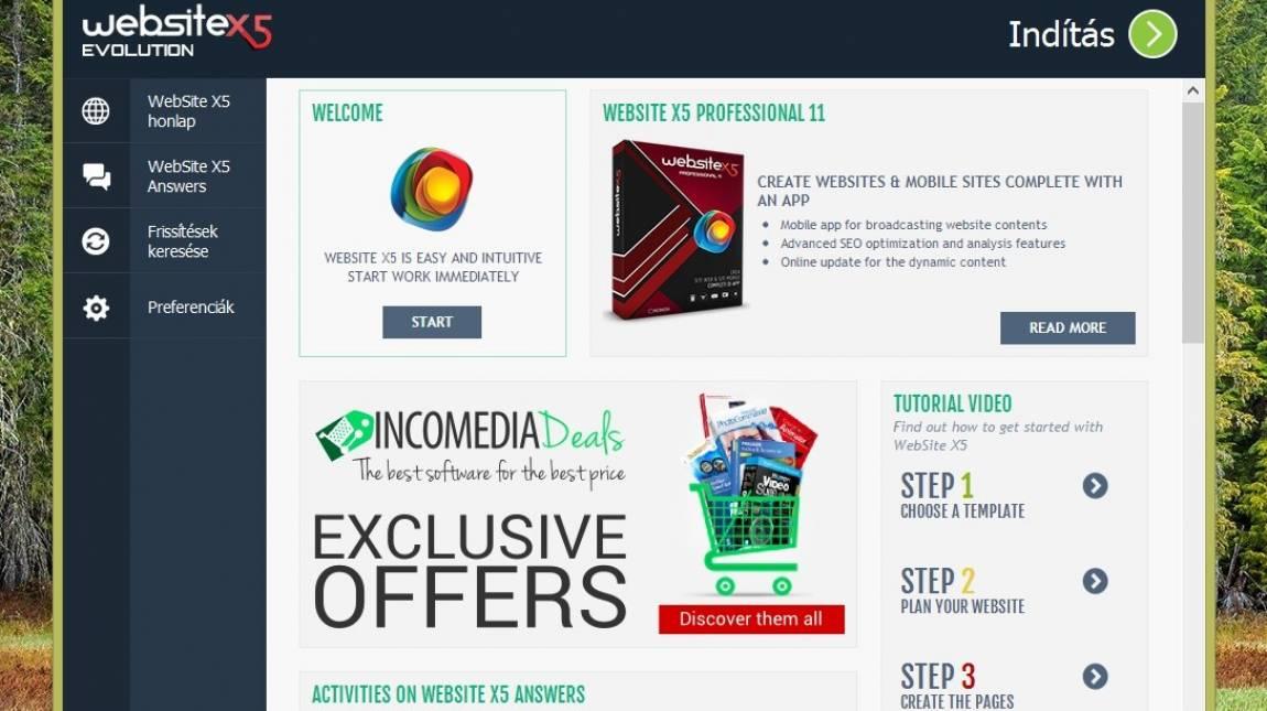 WebSite X5 Evolution 11 - Honlapépítés egyszerűen kép