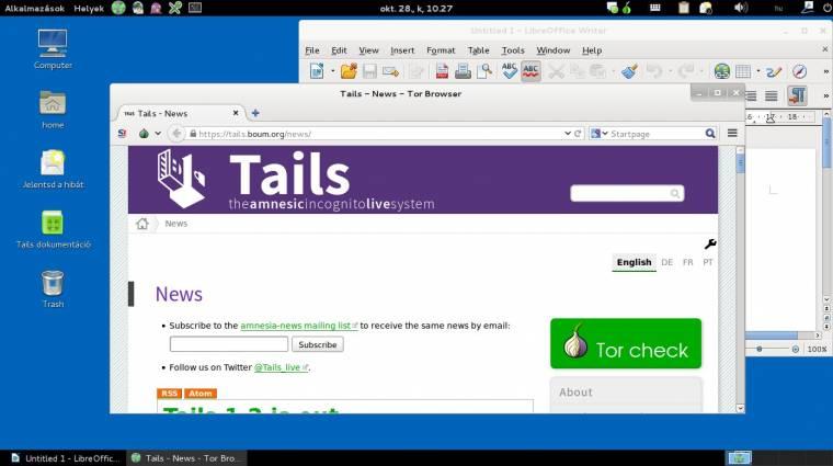 Tails OS: az anonimitásba burkoló Linux kép