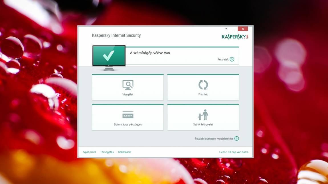 Kaspersky Internet Security 2015 teszt kép