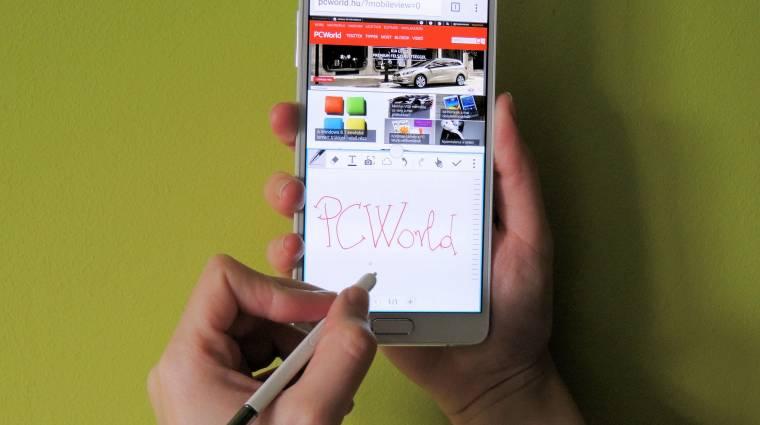 Képernyőmentések egy Galaxy Note 4-en kép