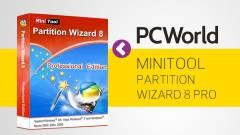MiniTool Partition Wizard Pro 8 - lemezkezelő mindenes kép