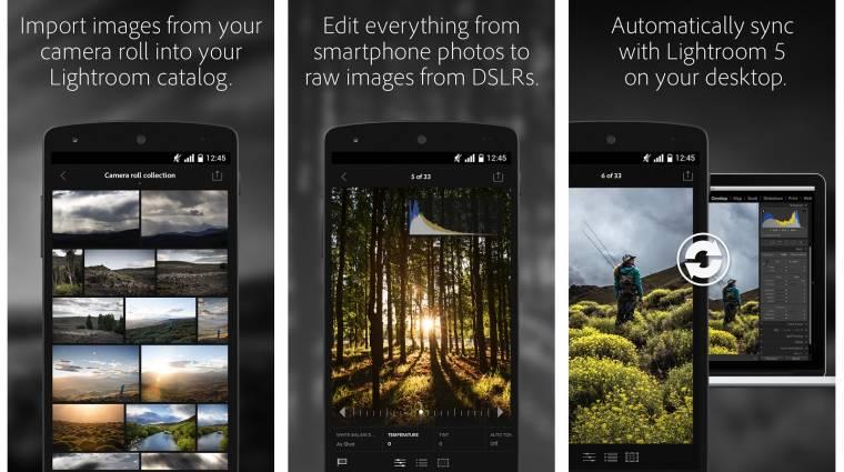 Elérhető Androidra az Adobe Lightroom kép