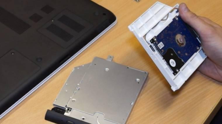 Így szerelj két adattárolót notebookodba kép