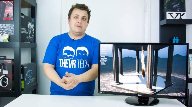 TheVR Tech - Acer PREDATOR XB270HU gamer monitor videoteszt kép