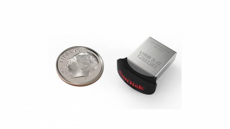 Itt a világ legkisebb 128 gigabájtos pendrive-ja kép