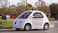 Közúton a Google önjáró autói kép