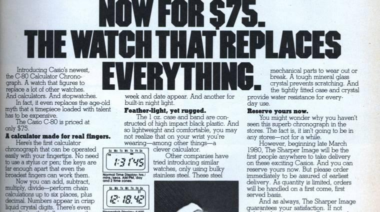 Casio, avagy az úttörő az Apple Watch előtt  kép