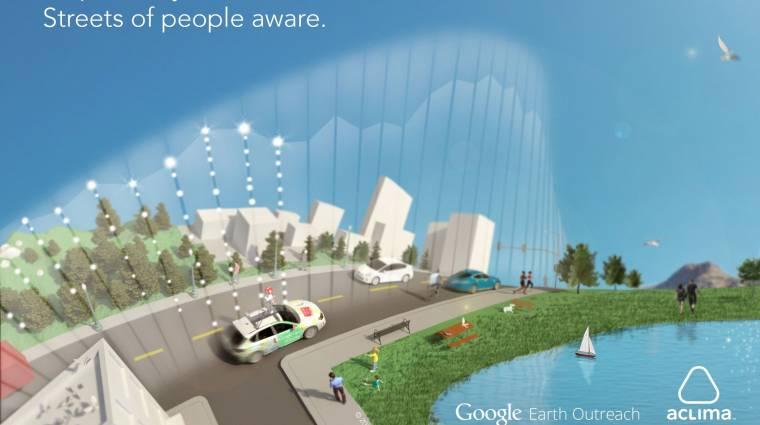 Már légszennyezettséget is mérnek a Google autói kép