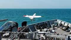 Így száll fel egy 3D-nyomtatott drón egy hadihajóról kép