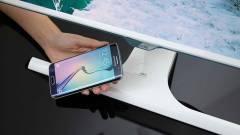 Vezeték nélküli töltő a Samsung monitorában kép