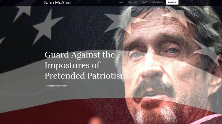 John McAfee elnök akar lenni kép