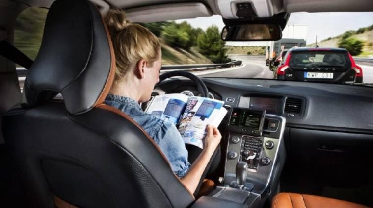 A Volvoé a felelősség, ha karambolozik a robotautód kép