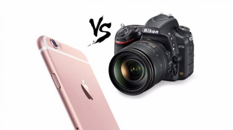 Így aláz le egy iPhone 6S egy DSLR gépet kép