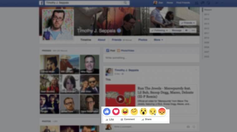 Dislike helyett érzelmeket tesztelhet a Facebook kép