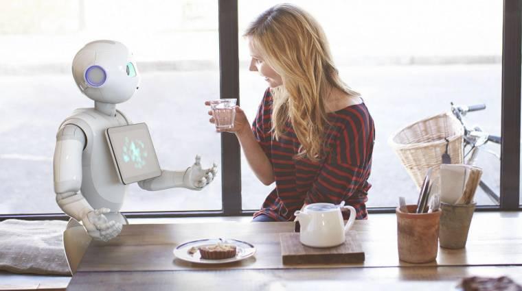 Európai boltokban tesztelik a humanoid robotot, ami leolvassa az érzéseidet kép