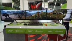 Prémium gamer monitor, hajlított OLED panellel kép