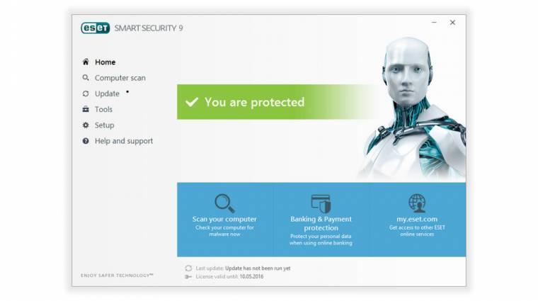 Itt az ESET Smart Security 9 és az ESET NOD32 Antivirus 9 kép