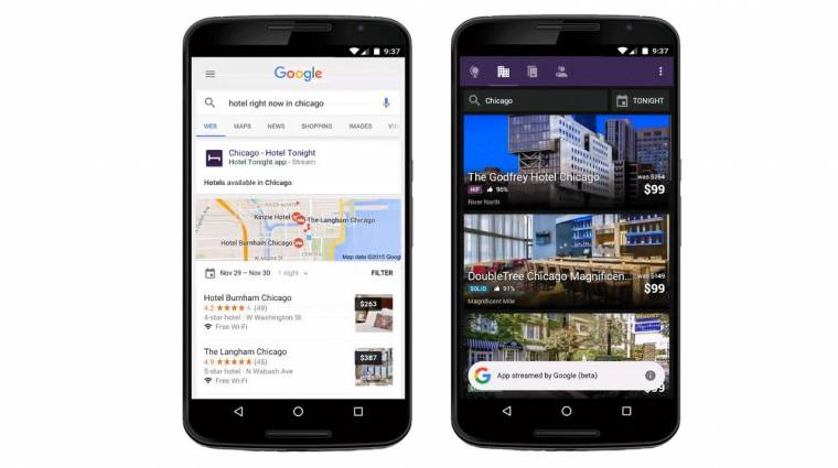 A Google alkalmazásokat streamel a mobilokra kép