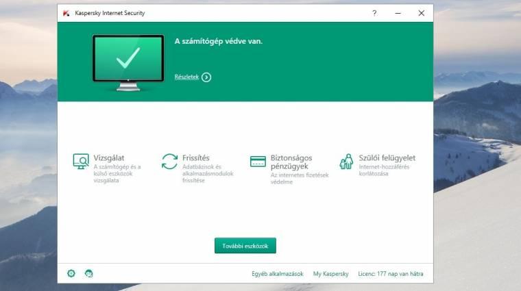 Kaspersky Internet Security 2016 teszt – magunktól is megvéd kép