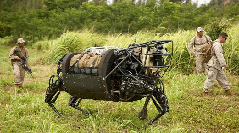 Kaszát kapott az amerikai hadsereg robotkutyája kép