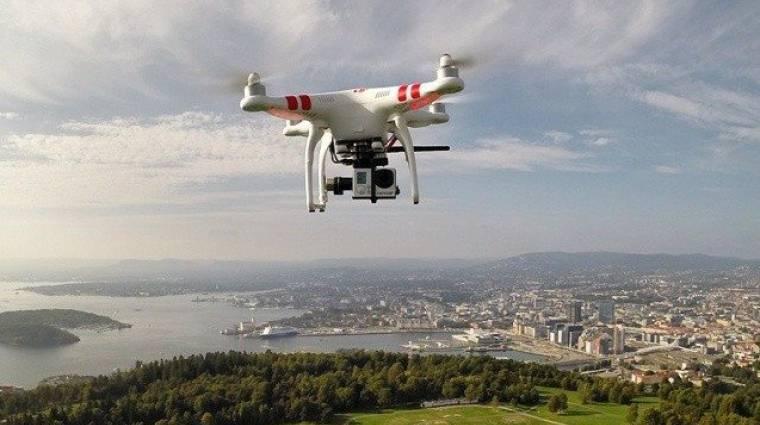 Épül a drónreptér kép