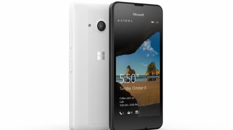 Itt a Lumia 550: Windows 10 Mobile, olcsón kép