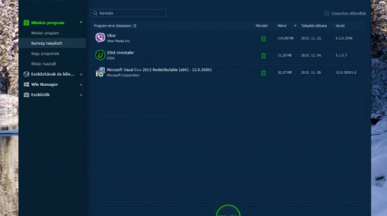 IObit Uninstaller 5 teszt - le a megunt programokkal kép