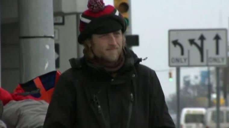 Bankkártyát is elfogad egy detroiti hajléktalan kép