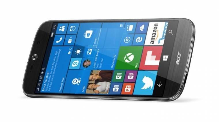 Februárban kerül piacra az Acer Windows 10-es mobilja kép