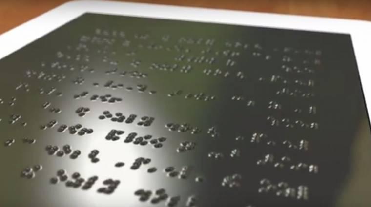 Már működik az első Braille-írásos tablet kép