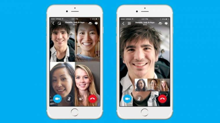 Skype: végre van ingyen csoportos videobeszélgetés mobilra kép