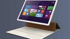 Itt a Huawei hibrid, windowsos MateBook táblagépe kép