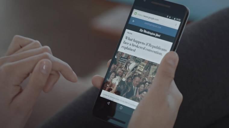 Úton a pillanatok alatt betöltődő mobilos weblapok kép