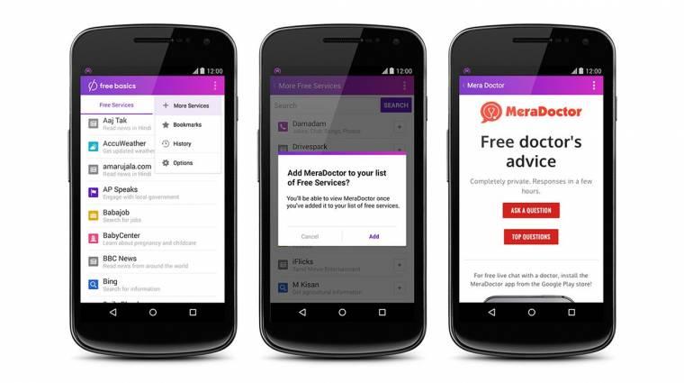 Betiltották Indiában Facebook ingyen internetét kép