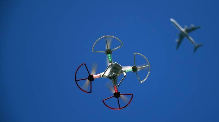 Újabb utasszállítót sodort veszélybe egy drón kép