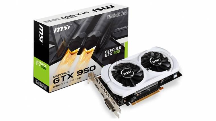 Takarékos GeForce GTX 950-ek az MSI-tól kép